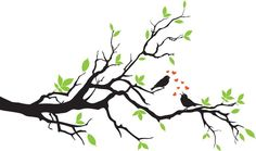 birds and branches tattoo | Birds On A Branch In Love Wall Decal Wall Sticker - Save...
