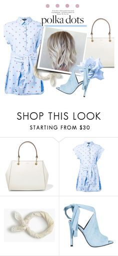 """Polka Dots"" by just-a-girl-with-thoughts ❤ liked on Polyvore featuring DKNY, Boutique Moschino, J.Crew, Kendall + Kylie and PolkaDots"