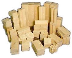 """American Hard Maple Blocks by barclayswoods:  """"The real deal"""". #Toys #Wooden_Blocks"""