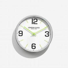 London clock Schoolklok - Zest- Chroom London Clock, Home Decor, Decoration Home, Room Decor, Home Interior Design, Home Decoration, Interior Design