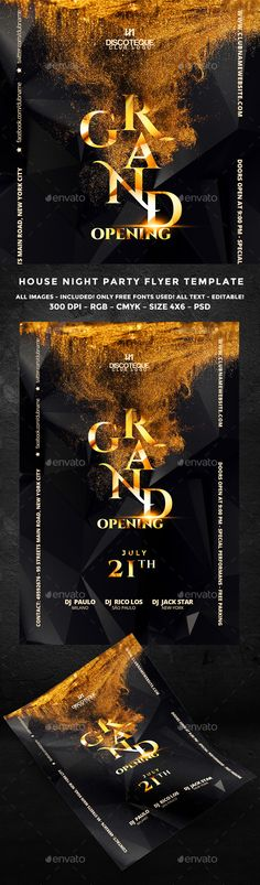 Grand Opening PSD Flyer  Template • Only available here ➝ http://graphicriver.net/item/grand-opening-flyer/16561878?ref=pxcr
