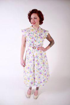 1940s Vintage DressSpring Fashion Semi Sheer by stutterinmama, $112.00