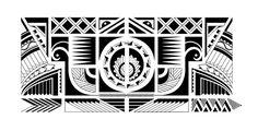 Tattoo Maorí realizado a partir de figuras geométricas y previo estudio sobre formas nativas maorí. Diseño hecho para Jaime Rojas. (Maromen)
