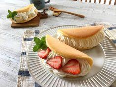 フライパンでふわふわ オムレット ケーキ(バナナ、苺)*オムレットレシピ改良しました。 : ゆーママ 公式ブログ