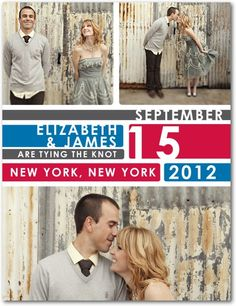 Save the Date Postcards - City Subway by Wedding Paper Divas