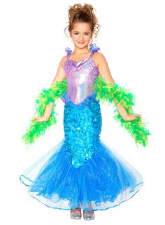 mermaid toddlerchild costume halloween costume toddlermermaid halloween costumeschildren - Mermaid Halloween Costume For Kids