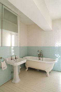 Green tile is trending in interior design. Here are 35 reasons why we can't get enough green tile. For more interior design trends and inspiration, visit domino. Bad Inspiration, Bathroom Inspiration, Faux Wainscoting, Wainscoting Kitchen, Wainscoting Bedroom, Wainscoting Ideas, Kitchen Backsplash, House Of Turquoise, Bathroom Wall Decor