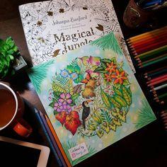 Finally it's done ✏#adultcoloringbook #magicaljungle #johannabasford #prismacolor #prismacolorpencils #crayola #coloringbook #coloring #stressrelief #relaxing #butterfly #colours #colors #lostocean #enchantedforest #johannaschristmas #mycreativeescape #toucan #selvamagica #nofilter