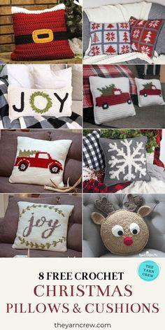 8 Free Christmas Festive Pillows & Cushions | The Yarn Crew