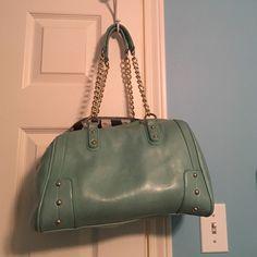 Seafoam green purse. Seafoam green purse. Can fit a ton of stuff! Charming Charlie Bags Shoulder Bags
