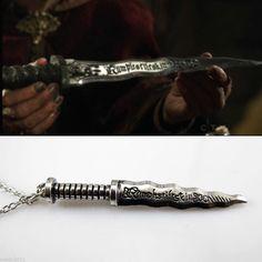 New Once Upon A Time ABC Rumplestiltskin Rumple Dagger Stiletto Vintage Necklace #New #Pendant