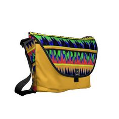 Ablaze in color ZiGzAg BaG Courier Bags