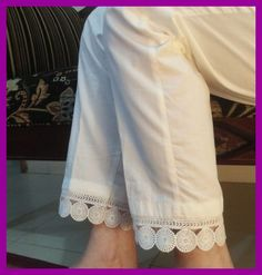 Fantastic No Cost sewing hacks trousers Suggestions I wear under my dresses in the summer for chubrub, and instead of a slip. Salwar Pants, Kurta With Pants, Trouser Pants, Stylish Dress Designs, Stylish Dresses For Girls, Pakistani Dress Design, Pakistani Fashion Casual, Salwar Pattern, Stretch Stiefel