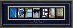 Norwell, MA. Framed Letter Art