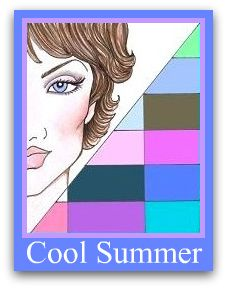 Cool Summer Pallette....Dominant characteristic is COOL:   Cool Hair  Cool Eyes  Cool Skin  Must have all 3 Cool elements