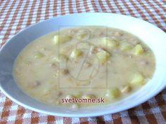 Zemiakovo-cícerová sladkokyslá polievka • Recept | svetvomne.sk Cheeseburger Chowder, Food And Drink, Soup, Soups, Chowder