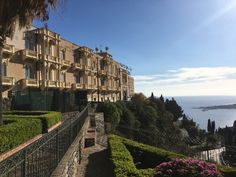 The steep, winding roads and gems of Taormina, our last stop in Sicily. Winding Road, Sicily, Cliff, Roads, Louvre, Gems, Building, Travel, Viajes