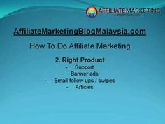 How to Do Affiliate Marketing Video. Remember to visit my affiliate marketing blog @ affiliatemarketingblogmalaysia.com for more affiliate marketing tips. Remember to comment after the video too..