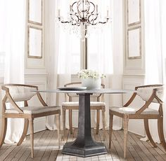 1940s Belgian Metal Dining Table