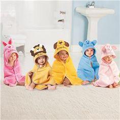 Hooded Animal Towel | Lillian Vernon - Kids Towels | Lillian Vernon
