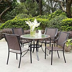 Dark Brown Modern 5pc Patio All Weather Wicker Cafe Dining Set | Contemporary Furniture to Home Outdoor by the Veranda, Garden, Porch, Pool or Deck Gramercy Home http://www.amazon.com/dp/B01C3NYSL8/ref=cm_sw_r_pi_dp_Hryfxb1KHKPFG