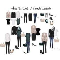 How To Work A Capsule Wardrobe A fashion look from October 2015 by diane-howard-image featuring Pinko and Witchery Capsule Wardrobe Work, Capsule Outfits, Fashion Capsule, Wardrobe Basics, Capsule Clothing, Best Winter Coats, Mode Jeans, Spring Shirts, Minimalist Wardrobe
