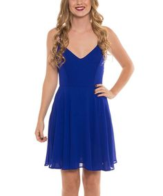 Look what I found on #zulily! Royal Blue V-Neck Dress by Coveted Clothing #zulilyfinds