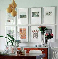 Wall frames via House and Leisure Magazine
