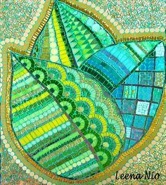 'Green leaves' mosaic ~ Leena Nio