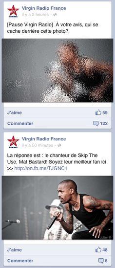 Post Virgin Radio sur Facebook : #devinette #photo #chanteur #pasfacile