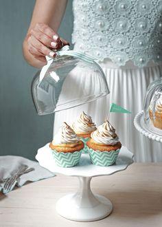 Lime meringue pie cupcakes