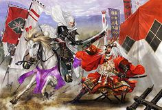 """Takeda Shingen v.s. Uesugi Kenshin at Kawanakajima"" - 画像表示 - 私的戦国時代 - Yahoo!ブログ"