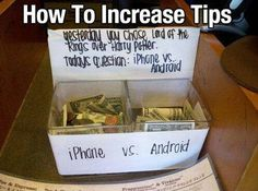 This is genius;) increasing tips like a boss