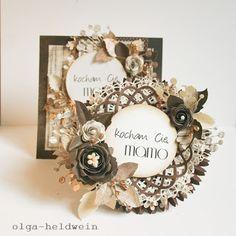 Arts keep me sane.: Na dzień matki znów Card Creator, Mail Art, Mini Albums, Embellishments, Christmas Cards, Card Making, Arts And Crafts, Frame, Flourishes