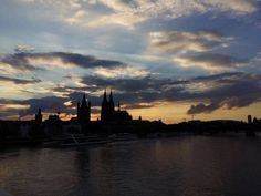 Sunset #Cologne #CologneCathedral #GrossStMartin #Dom #Rhine...