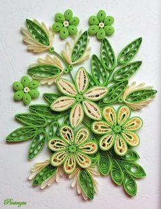 Flores de quilling-Pinterzsu decoupage&quilling oldala