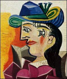 Femmes à chapeau (139) Pablo Picasso (1881-1973) Femme au chapeau bleu Femme assise au chapeau piqué d'une fleur 1945 Femme au chandail jaune Femme au chapeau bleu - 1939 Femme au chapeau bleu - 1944