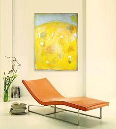 Fab yellow abstract painting by Vesna Antic