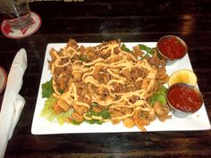 Fried calamari from Bardog Tavern in Memphis, TN.