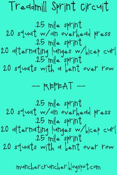 Treadmill circuit