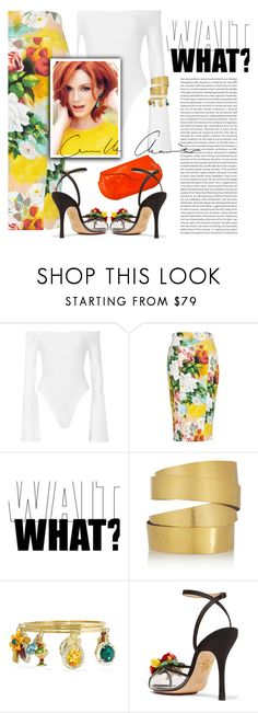 """Untitled #401"" by blogthegoodlife ❤ liked on Polyvore featuring Alix, Melissa McCarthy Seven7, Hervé Van Der Straeten, Dolce&Gabbana, Oris, Charlotte Olympia, Jil Sander and plus size clothing"
