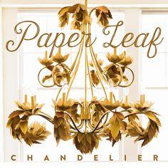 Upcycled Paper Leaf DIY Chandelier