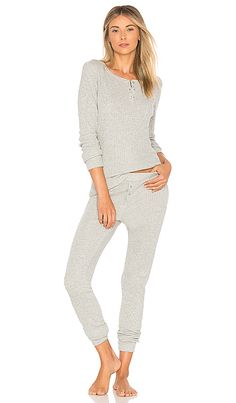 Shop for Calvin Klein Underwear Holiday Pajama Set in Grey Heather & Silver  Lurex at REVOLVE