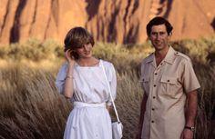 Princess Diana and Charles at Ayers Rock
