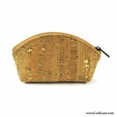 f6b6bd4b4 Coins purse natural with gold - shop for vegan cork bags by CorkLane