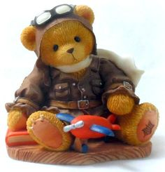 """Cherished Teddies Lance """"Come Fly With Me"""" 1998 National Event Figurine 337463 $11.99"""