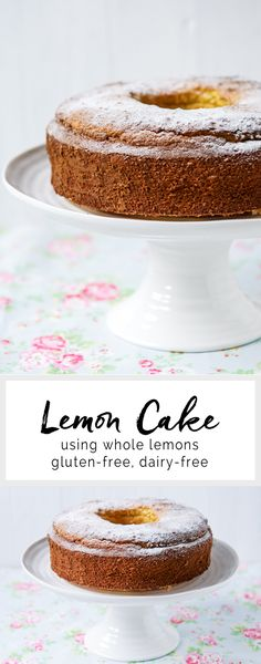 Lemon Cake using whole lemons. Gluten-free & dairy-free | eatlittlebird.com