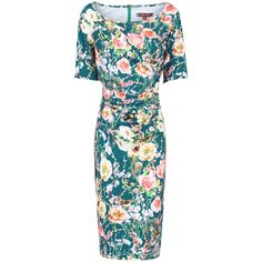 913c791b441e Buy Jolie Moi Floral Half Sleeve Shift Dress, Teal from our Women's Dresses  range at John Lewis & Partners.