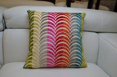 Cushions : Neon Rainbow Wave Cushions - Set of 1, 2 or 4