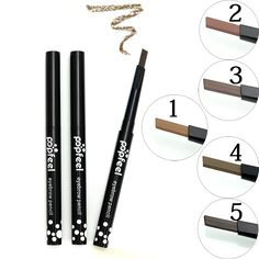 New 1 Pc Waterproof Longlasting Triangle Natural Make up Eyebrow Pencil Eye Brow Liner Makeup Tools 5 Different Colors